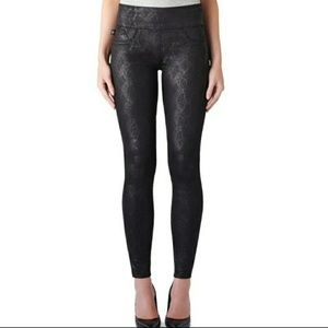 Rock & Republic Denim RX Leggings Black Snakeskin